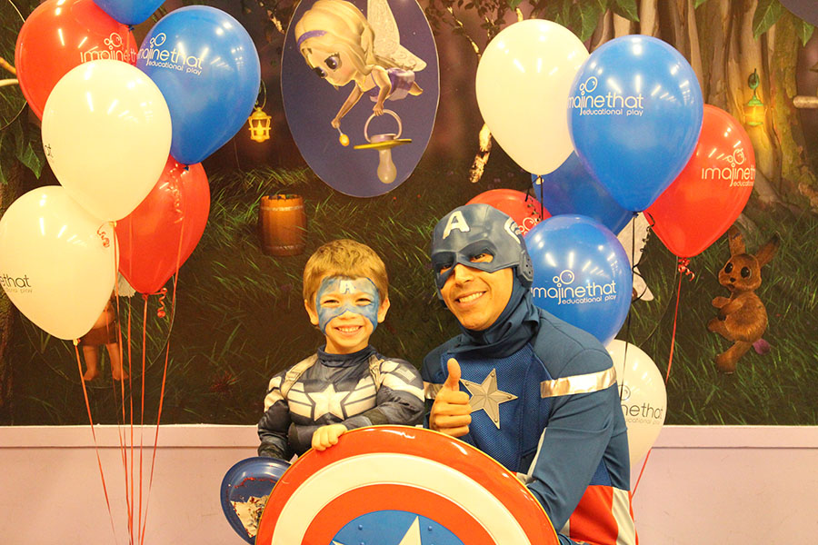 Super Hero Character Visits Lawrence MA